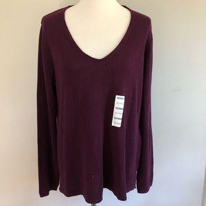 🎄Old Navy v-neck lightweight sweater XL NWT🎄